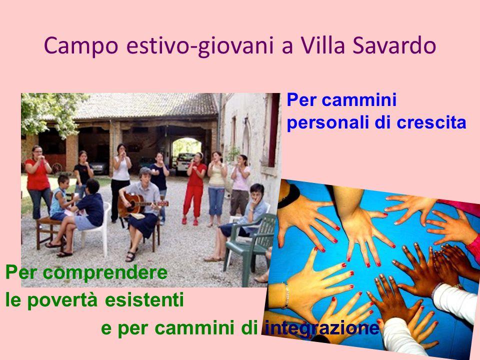 Campo estivo-giovani a Villa Savardo