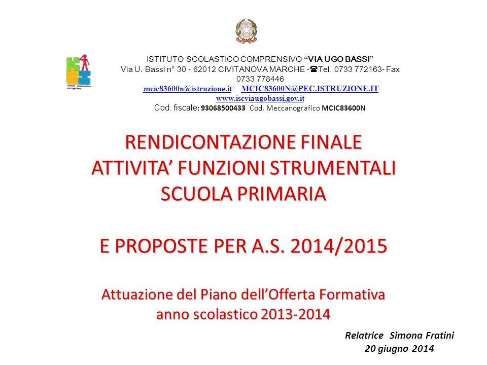 Relatrice Simona Fratini 20 giugno 2014
