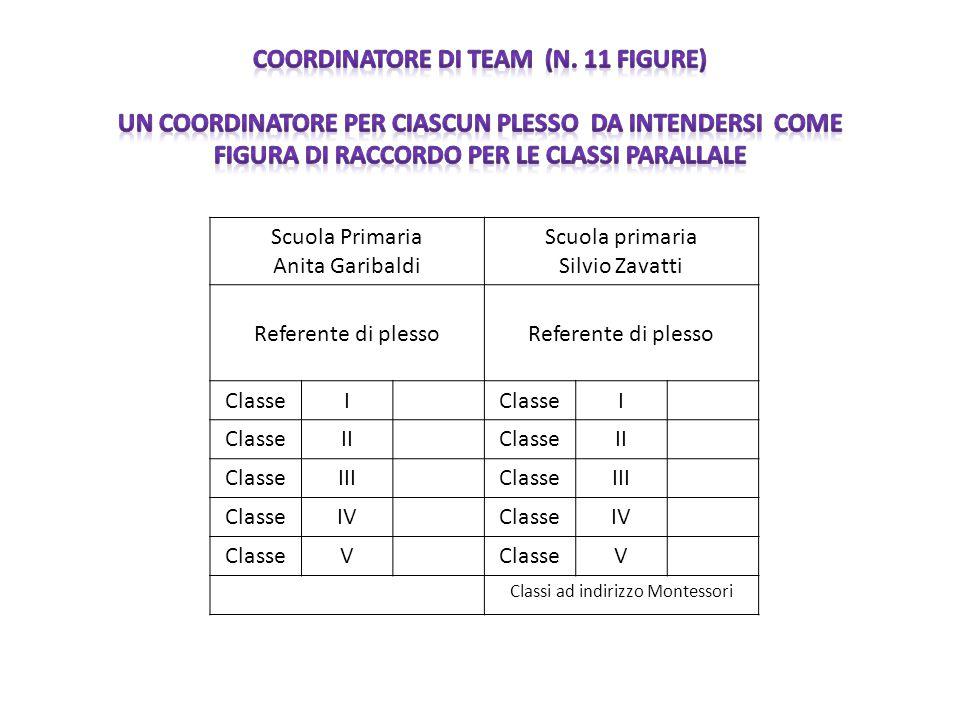 COORDINATORE DI TEAM (N. 11 FIGURE)
