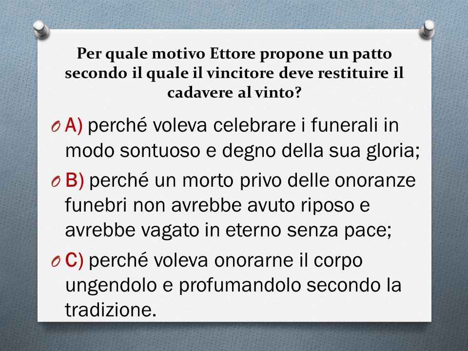 Per quale motivo Ettore propone un patto secondo il quale il vincitore deve restituire il cadavere al vinto