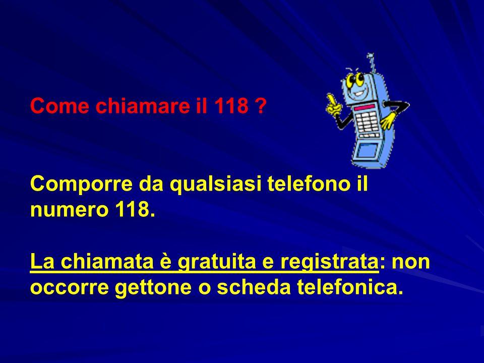 Come chiamare il 118 . Comporre da qualsiasi telefono il numero 118.