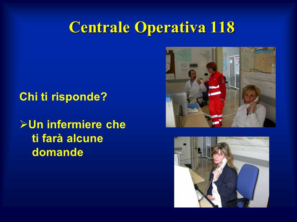 Centrale Operativa 118 Chi ti risponde Un infermiere che