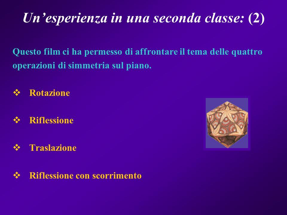 Un'esperienza in una seconda classe: (2)