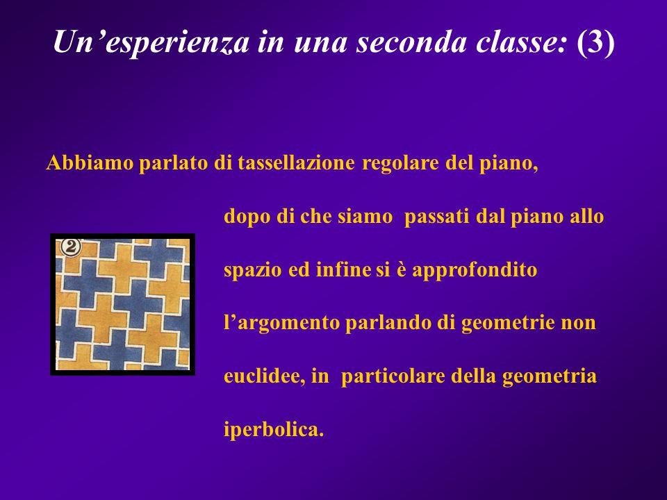 Un'esperienza in una seconda classe: (3)