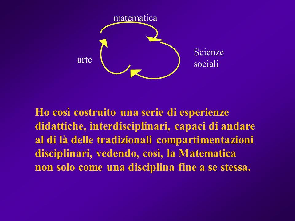 matematica Scienze sociali. arte.