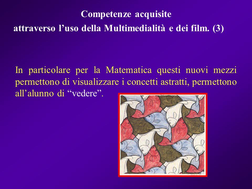 Competenze acquisite attraverso l'uso della Multimedialità e dei film. (3)