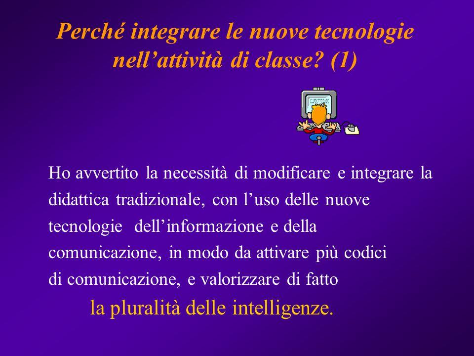 Perché integrare le nuove tecnologie nell'attività di classe (1)