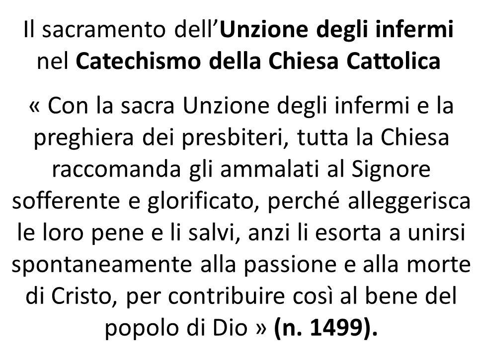 Il sacramento dell'Unzione degli infermi nel Catechismo della Chiesa Cattolica