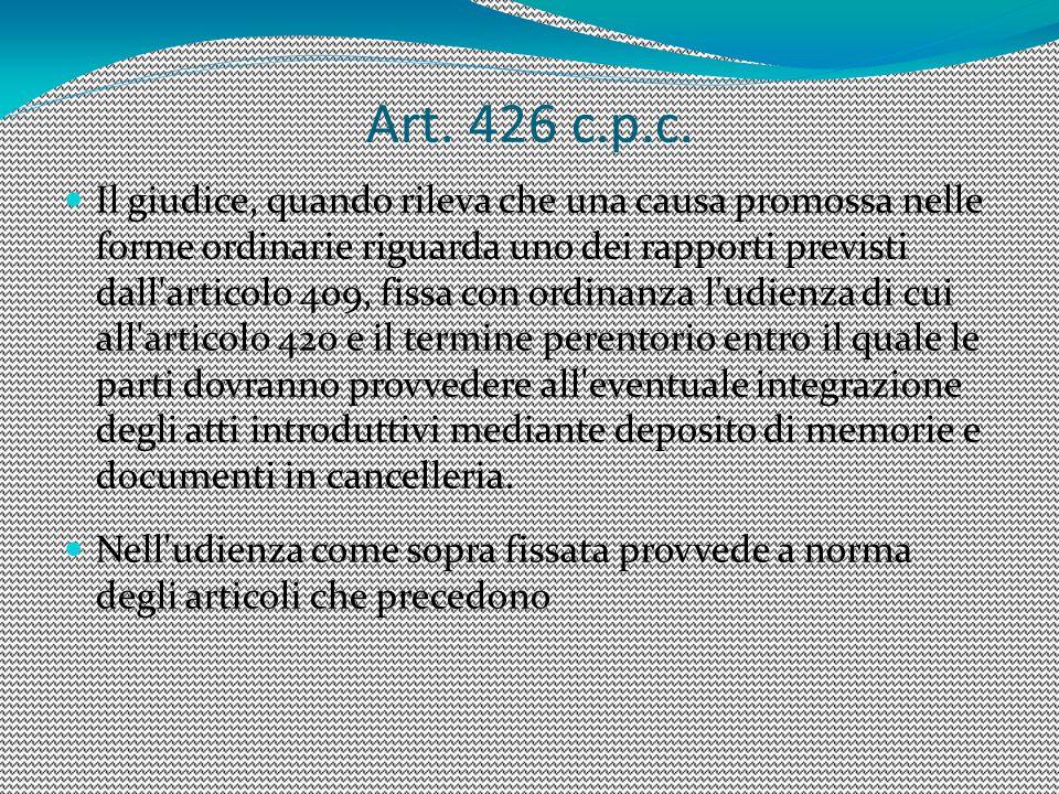 7 Art. 426 c.p.c.