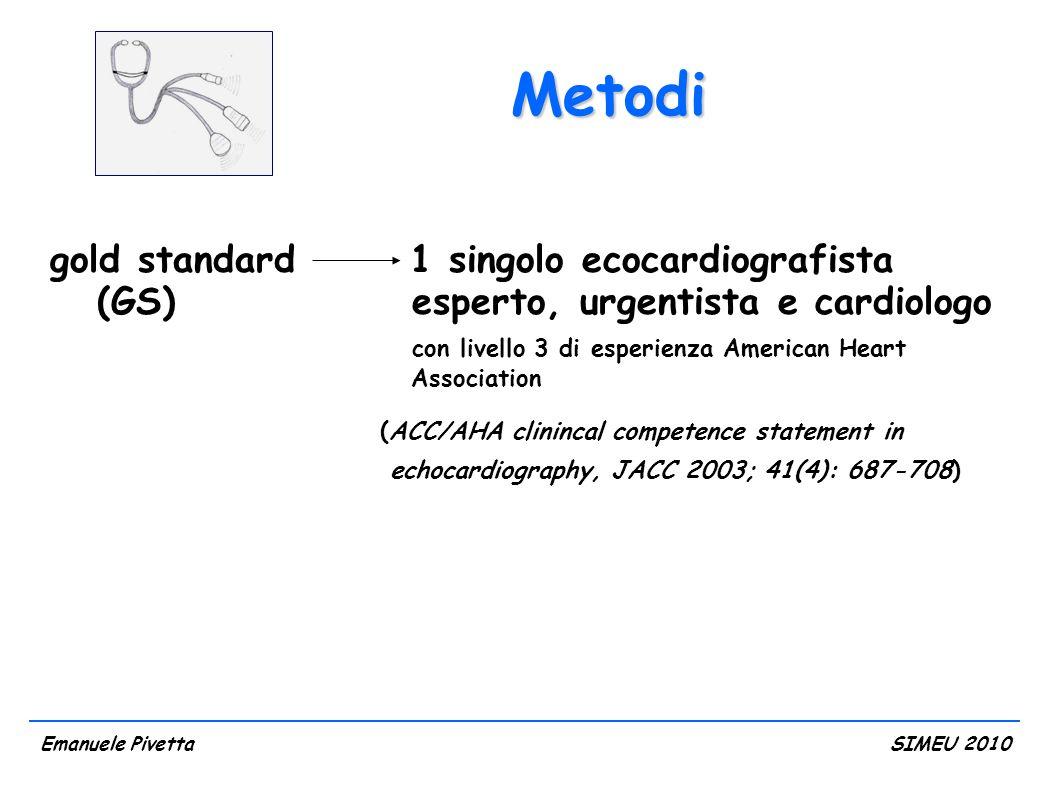 Metodi gold standard 1 singolo ecocardiografista