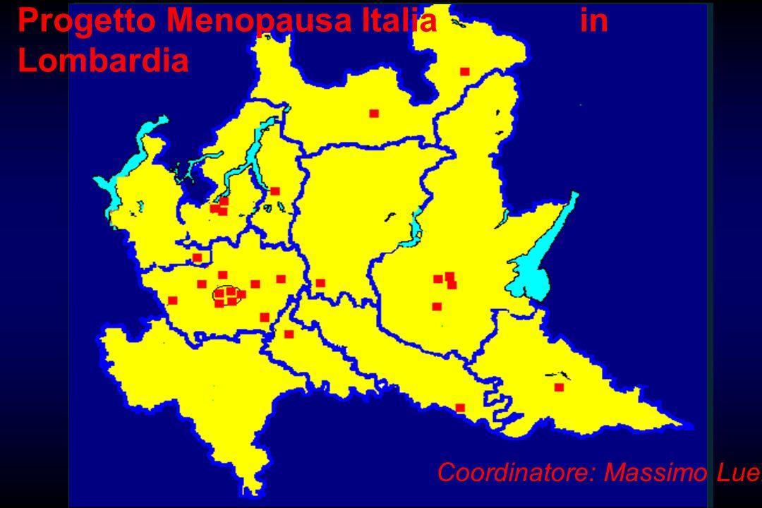 Progetto Menopausa Italia in Lombardia