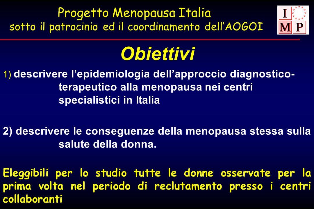 Progetto Menopausa Italia sotto il patrocinio ed il coordinamento dell'AOGOI