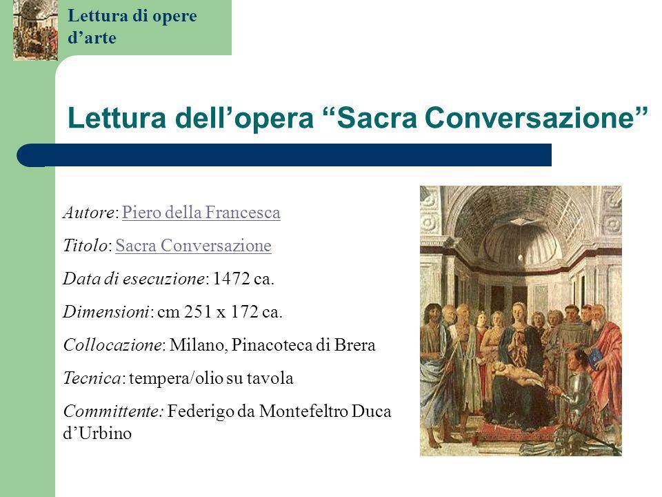 Lettura dell'opera Sacra Conversazione