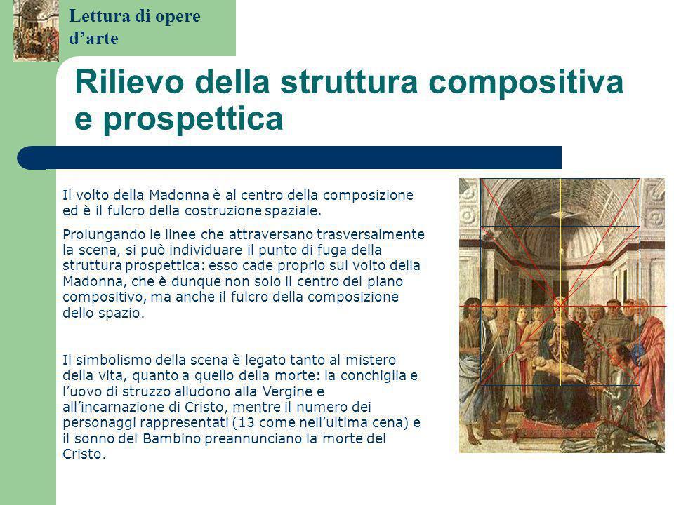 Rilievo della struttura compositiva e prospettica
