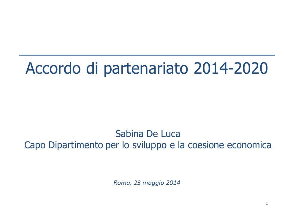 Accordo di partenariato 2014-2020
