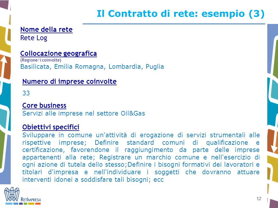 Il Contratto di rete: esempio (3)