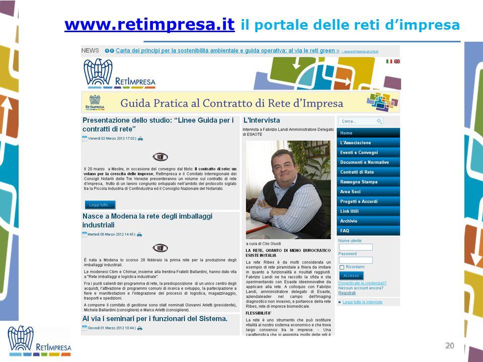 www.retimpresa.it il portale delle reti d'impresa