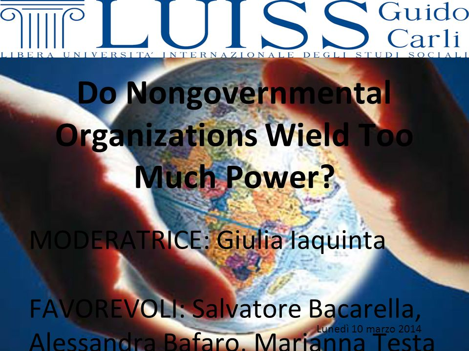 Do Nongovernmental Organizations Wield Too Much Power