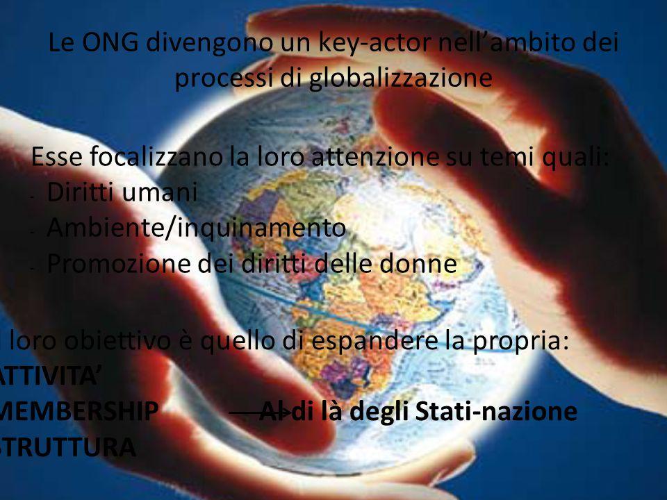Le ONG divengono un key-actor nell'ambito dei processi di globalizzazione