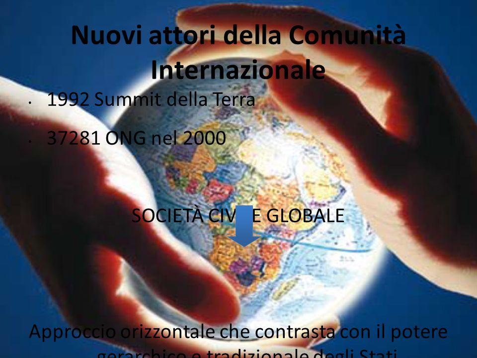 Nuovi attori della Comunità Internazionale