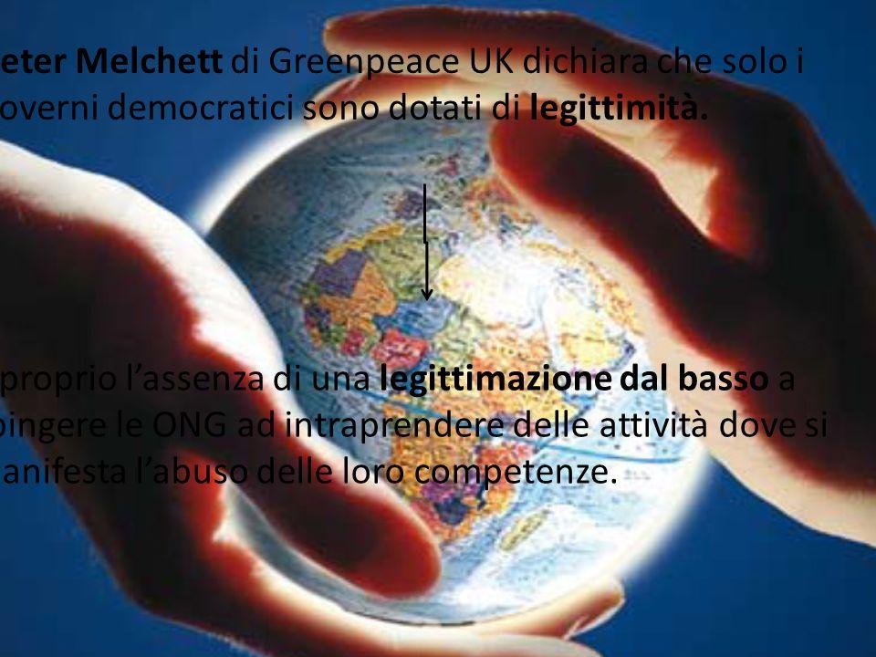 Peter Melchett di Greenpeace UK dichiara che solo i