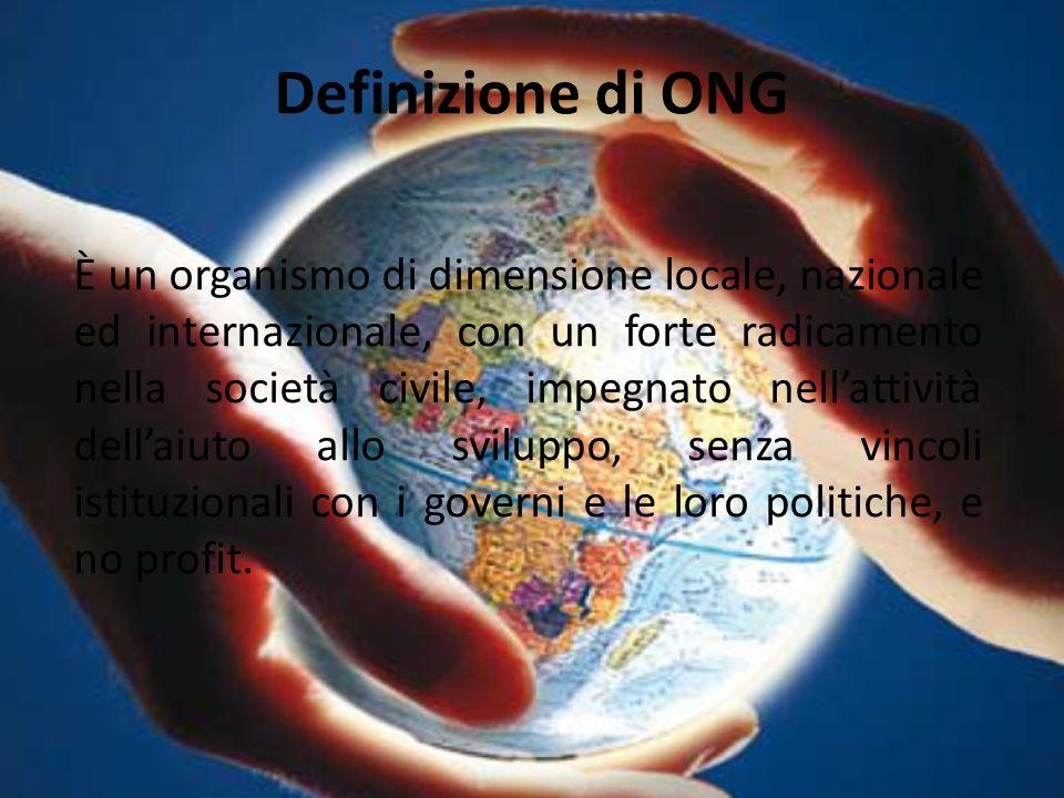 Definizione di ONG