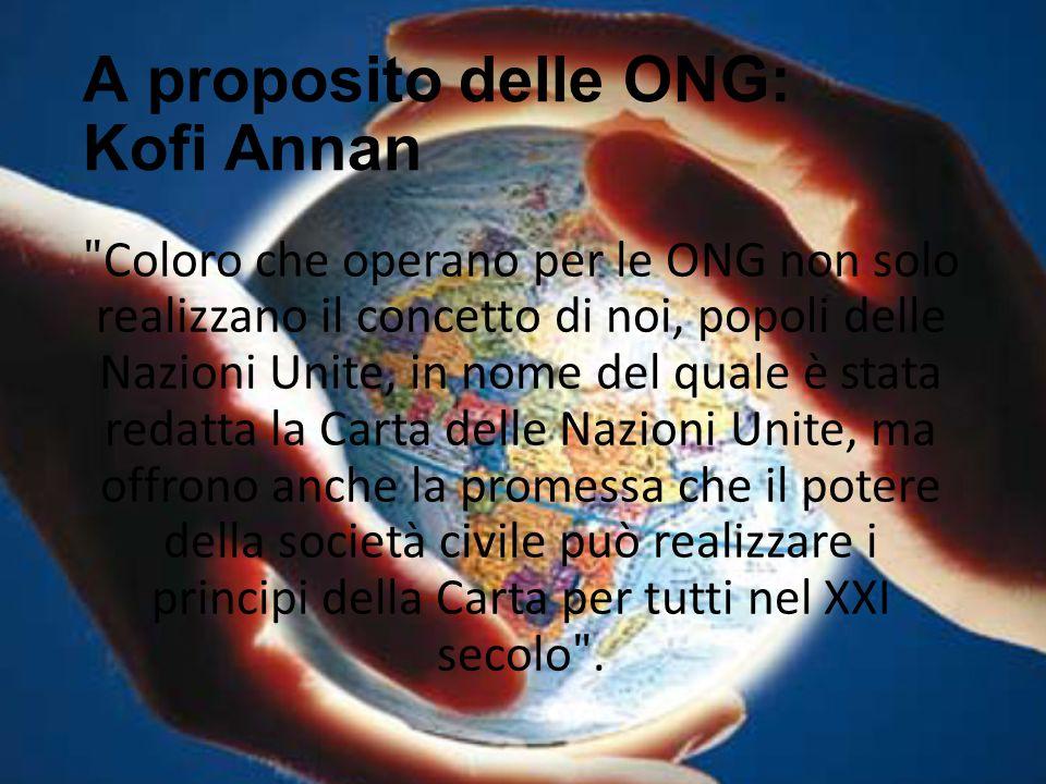 A proposito delle ONG: Kofi Annan
