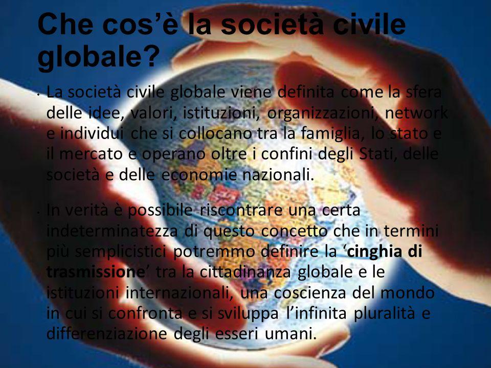 Che cos'è la società civile globale