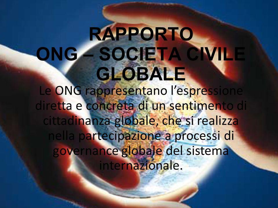 RAPPORTO ONG – SOCIETA CIVILE GLOBALE