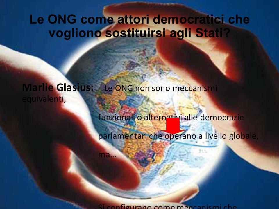 Le ONG come attori democratici che vogliono sostituirsi agli Stati