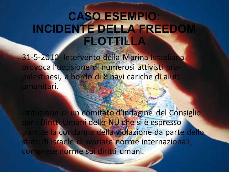 CASO ESEMPIO: INCIDENTE DELLA FREEDOM FLOTTILLA