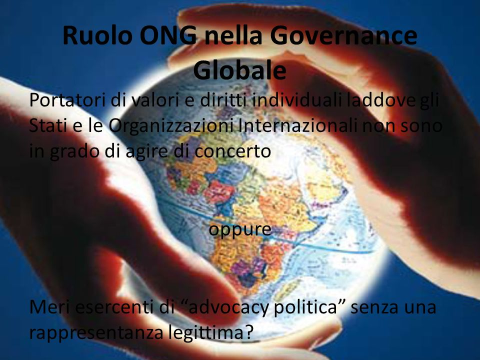 Ruolo ONG nella Governance Globale