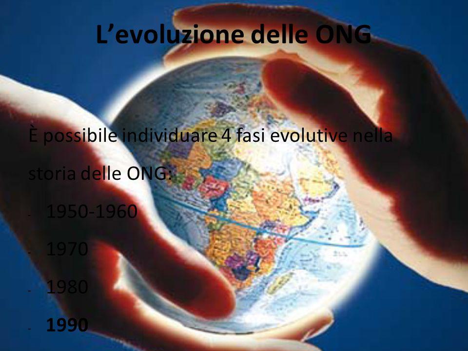 L'evoluzione delle ONG