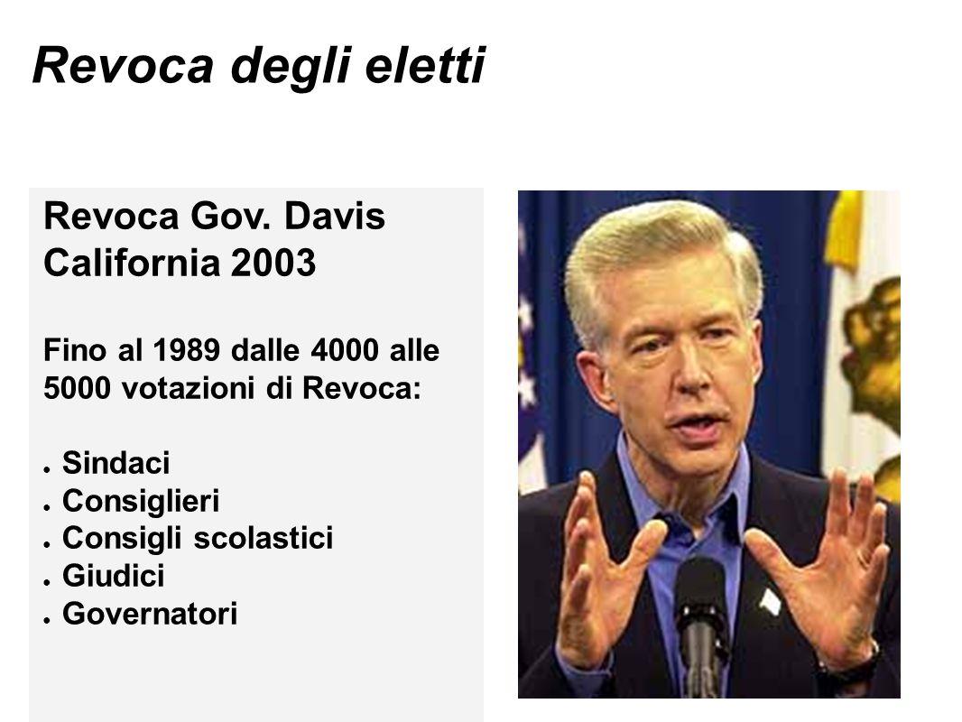 Revoca degli eletti Revoca Gov. Davis California 2003