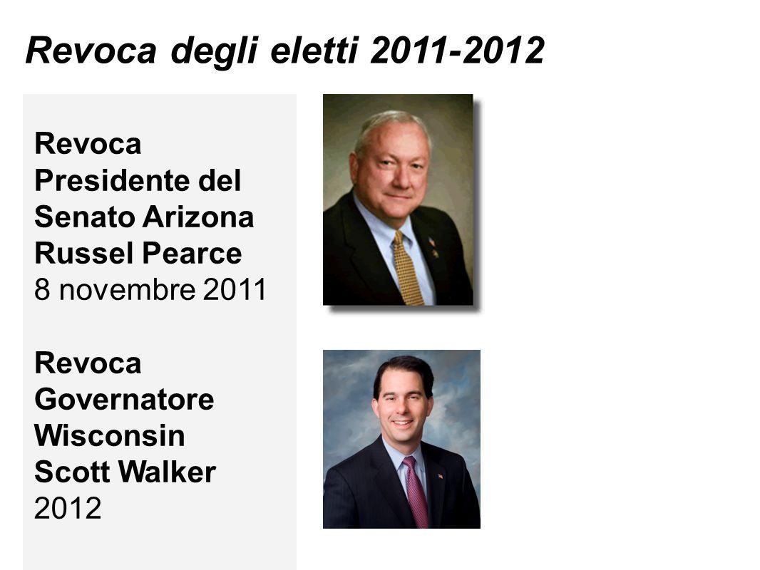 Revoca degli eletti 2011-2012 Revoca Presidente del Senato Arizona