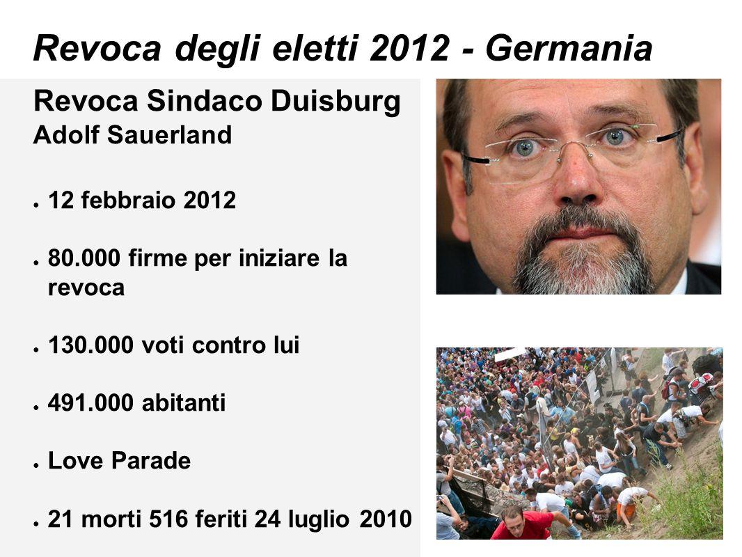 Revoca degli eletti 2012 - Germania
