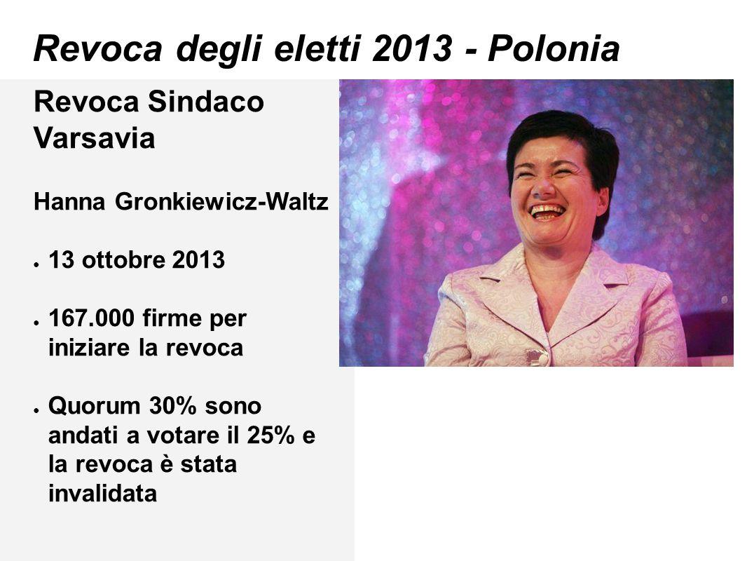 Revoca degli eletti 2013 - Polonia