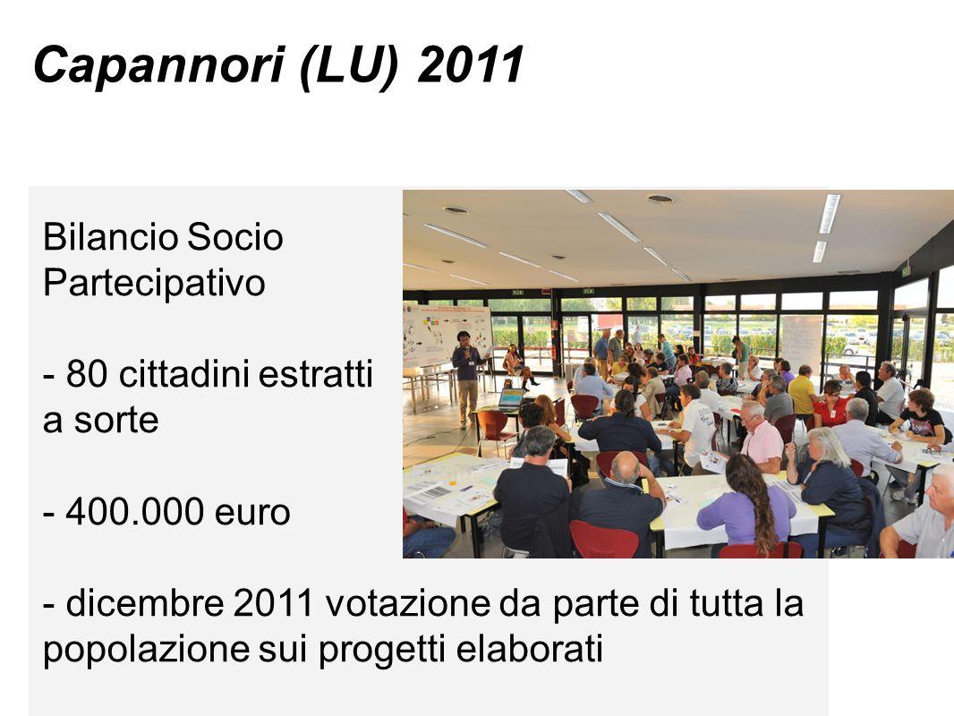Capannori (LU) 2011 Bilancio Socio Partecipativo