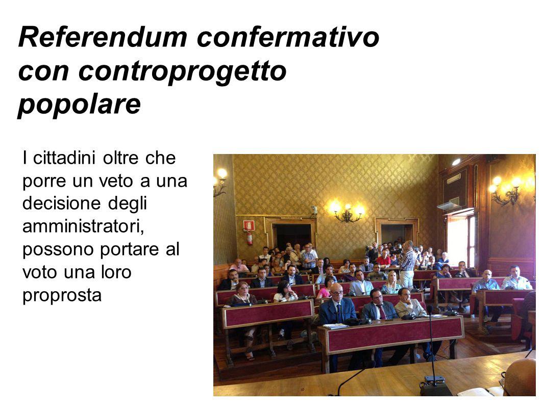 Referendum confermativo con controprogetto popolare