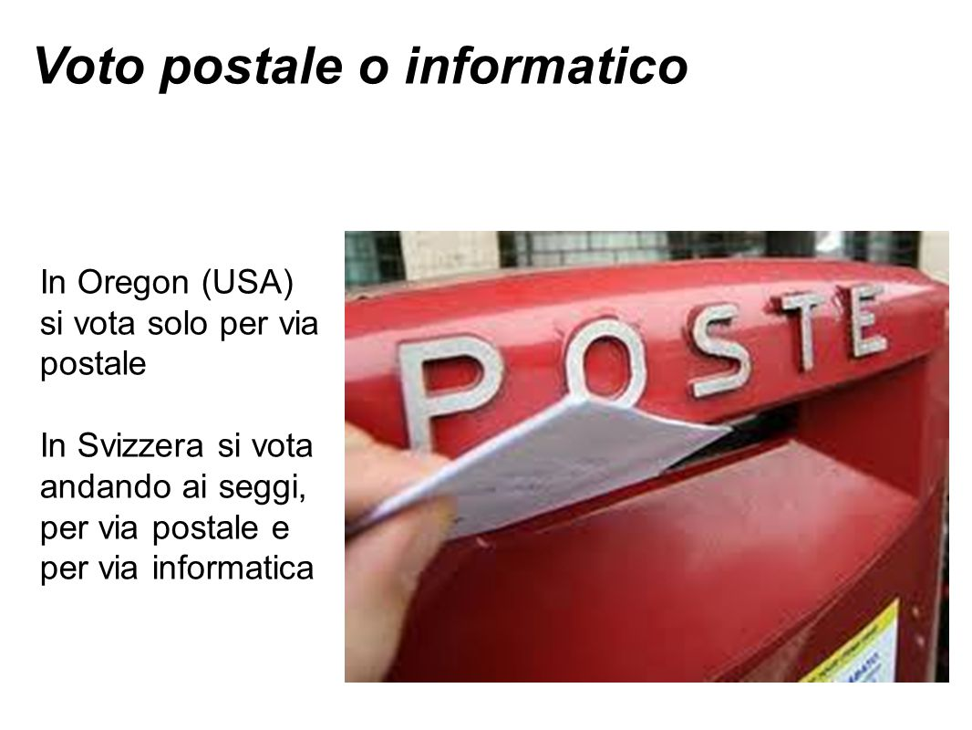 Voto postale o informatico