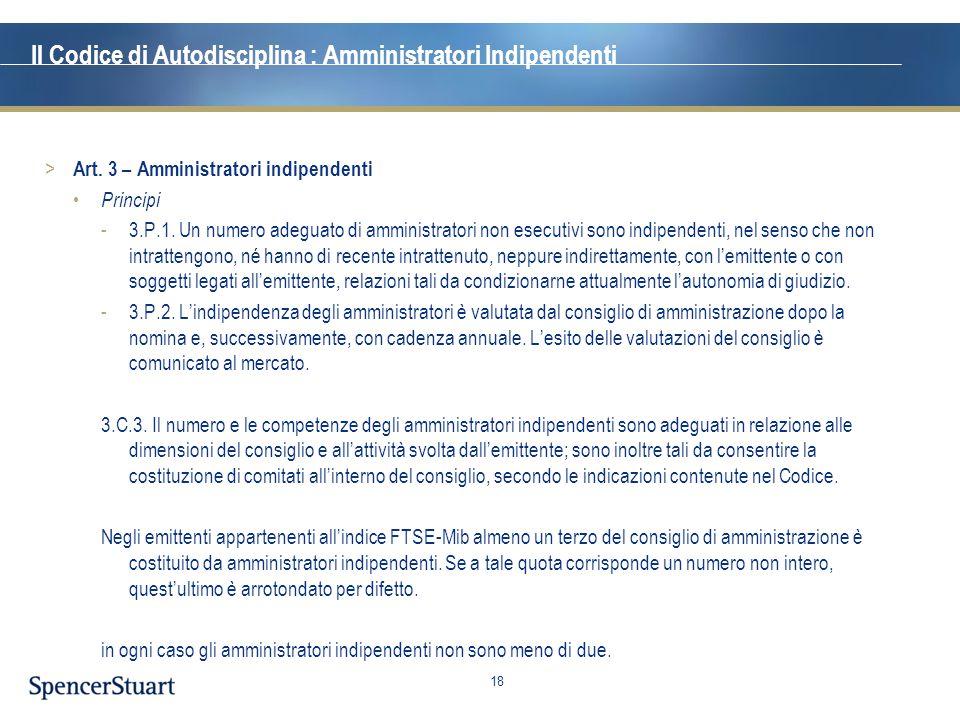 Il Codice di Autodisciplina : Amministratori Indipendenti
