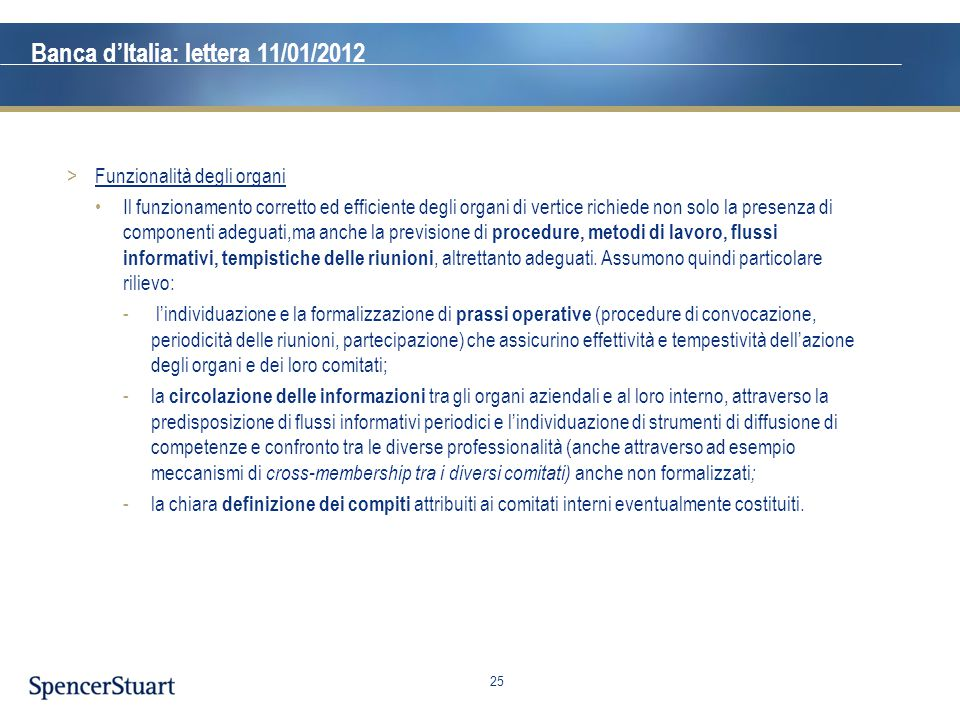 Banca d'Italia: lettera 11/01/2012