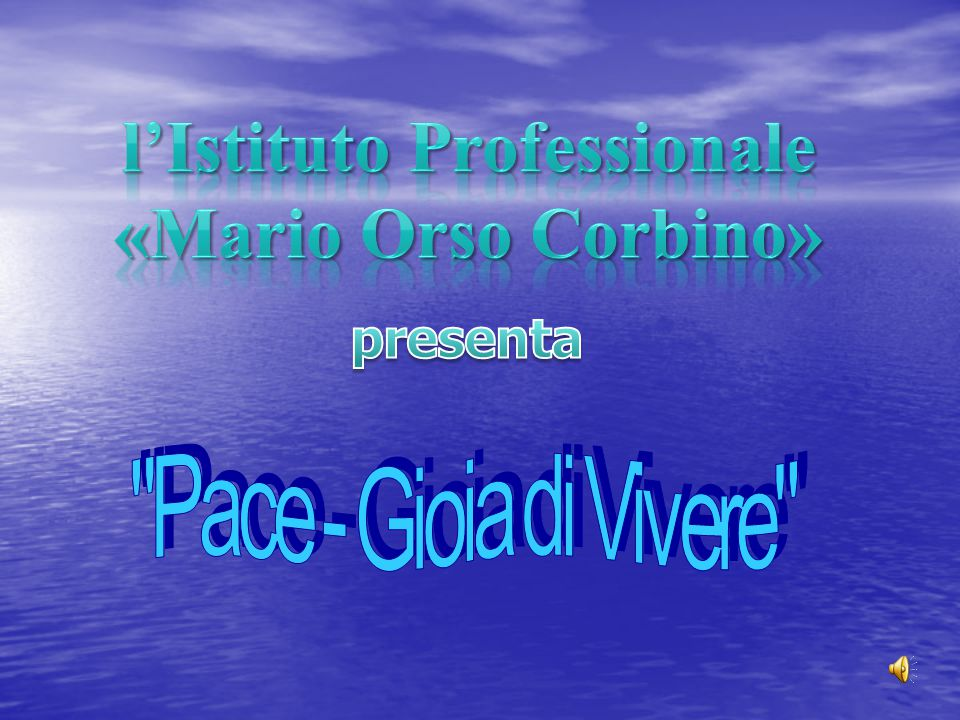 l'Istituto Professionale «Mario Orso Corbino»