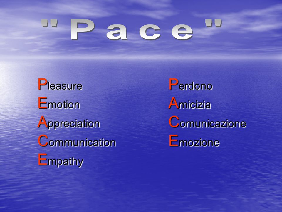 Pleasure Emotion Appreciation Communication Empathy Perdono Amicizia