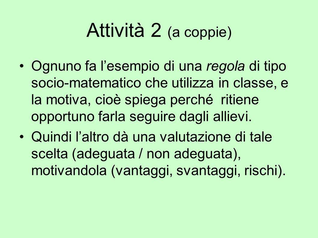Attività 2 (a coppie)