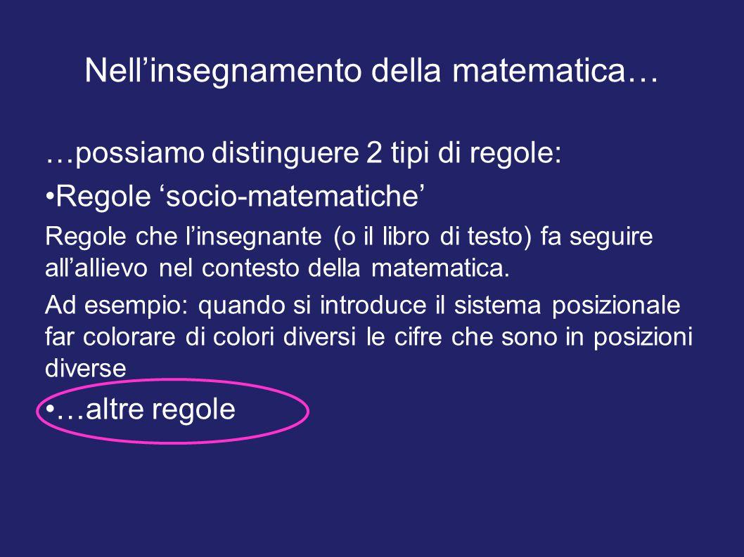 Nell'insegnamento della matematica…