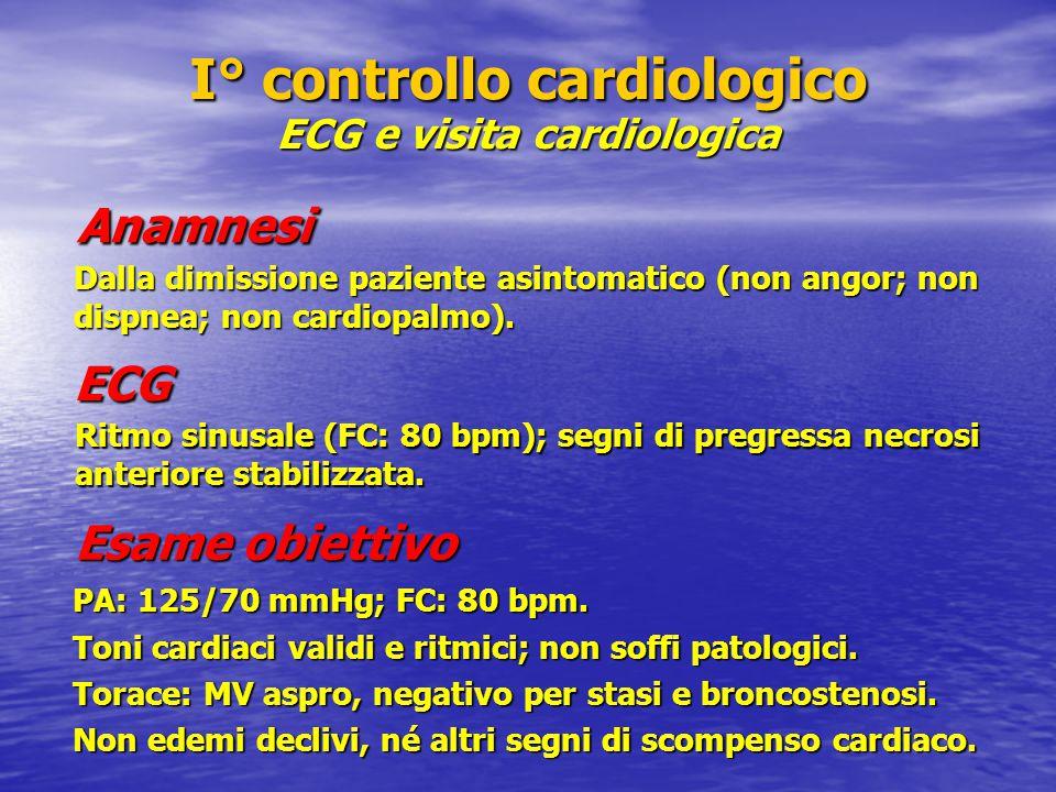 I° controllo cardiologico ECG e visita cardiologica