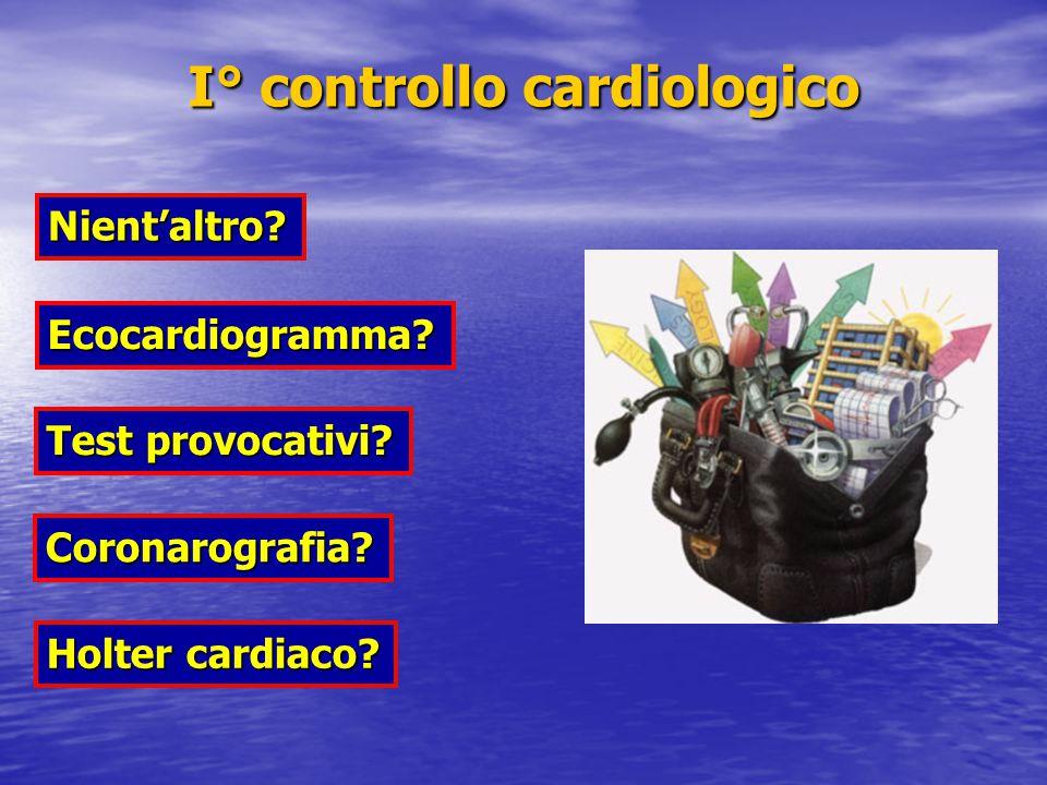 I° controllo cardiologico