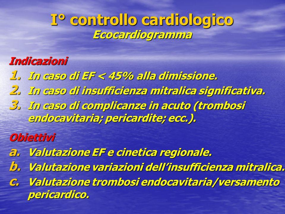I° controllo cardiologico Ecocardiogramma