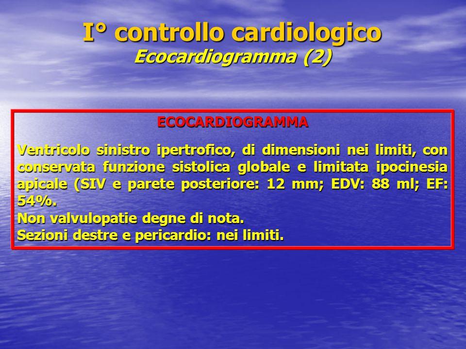 I° controllo cardiologico Ecocardiogramma (2)